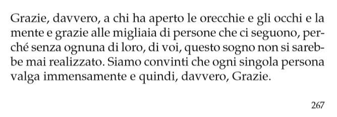 Damiano e Margherita Tercon - ringraziamenti